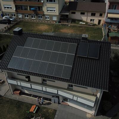 Neuinstallation Photovoltaikanlage 9,9 kWp, in 74740 Adelsheim